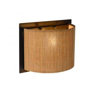 Bruine wandlamp Magius, rotan