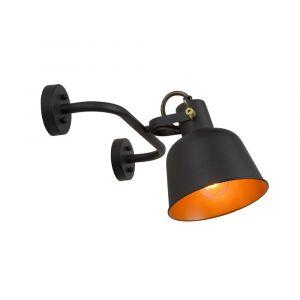 Zwarte wandlamp Pia, staal