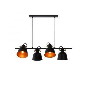 Zwarte hanglamp Pia, staal