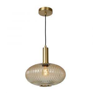 Amberkleurige hanglamp Maloto, glas