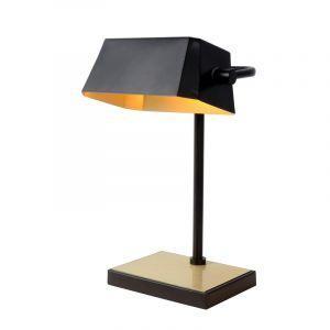 Zwarte bureaulamp Lance, staal