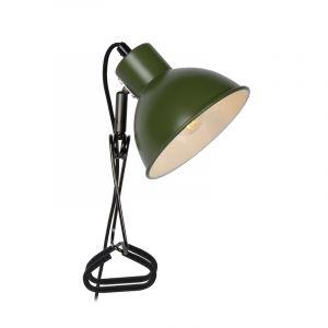 Groene klemlamp Moys, staal