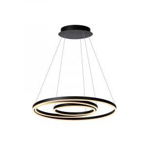 Moderne hanglamp Triniti, Zwart en Wit