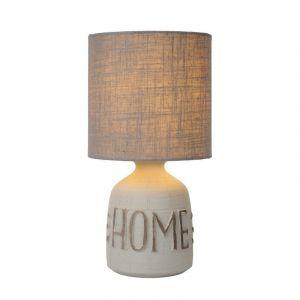 Landelijke tafellamp Cosby, Grijs