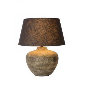 Roestbruine tafellamp Ramses, Rond