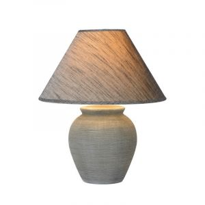 Grijze tafellamp Ramzi, Rond