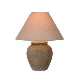 Bruine tafellamp Ramzi, Rond