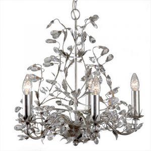 Klassieke kroonluchter Jeftha, 5L, zilver
