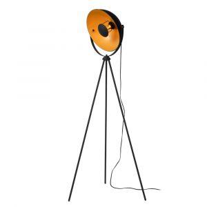 Zwarte driepoot vloerlamp Alvaro, staal