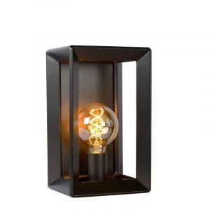 Grijze ijzer wandlamp Thor, Rechthoek