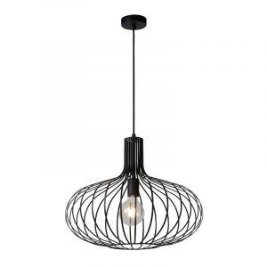 Retro hanglamp Manuela, Zwart
