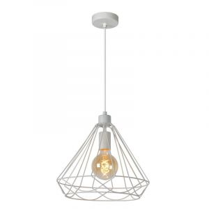 Witte hanglamp Kyara, Rond