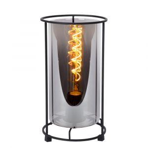 Zwarte Tafellamp Dounia, glas