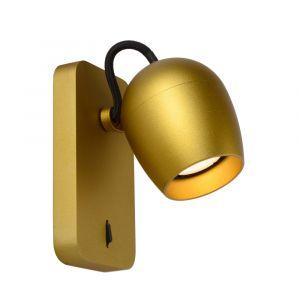 Gouden wandspot Preston, aluminium