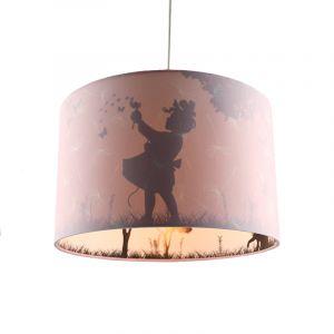 Roze meisjes hanglamp Vlinders, kinderkamer
