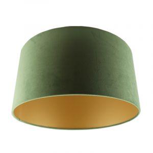 Olijfgroene/gouden velours lampenkap Milene, 40 cm