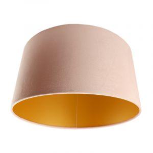 Lichtroze/gouden velours lampenkap Milene, 40 cm