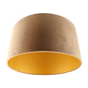 Taupe en gouden velours lampenkap Melanie, 50 cm
