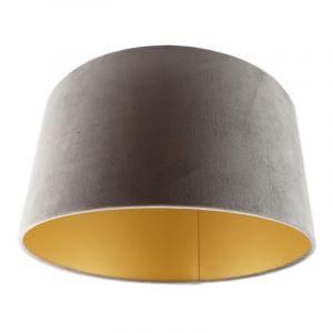 Grijs en gouden velours lampenkap Melanie, 50 cm