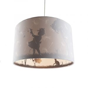 Grijze kinderkamer hanglamp Vlinders