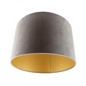 Grijs/gouden velours lampenkap Madelyn, 30 cm