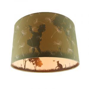 Olijfgroene kinderkamer plafondlamp Vlinders, doorschijnend