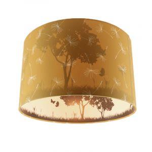 Okergele kinderkamer plafondlamp Vlinders, doorschijnend