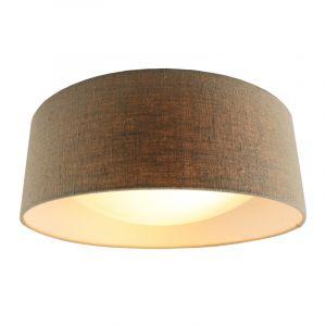 Bruin Linnen plafondlamp Dewy, 40 cm