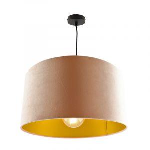 Hanglamp Urvin, roze met goud velours, 40 cm