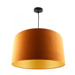 Hanglamp Urvin, oranje met goud velours, 40 cm