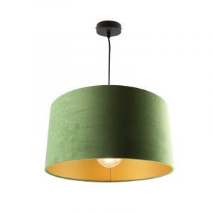 Hanglamp Urvin, olijfgroen met goud velours, 40 cm