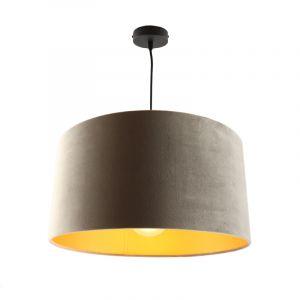 Hanglamp Urvin, grijs met goud velours, 40 cm