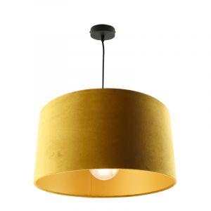 Hanglamp Urvin, geel met goud velours, 50 cm