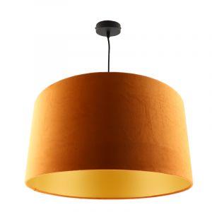 Hanglamp Urvin, oranje met goud velours, 50 cm