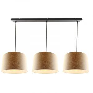 3L zwarte hanglamp met 40 cm linnen  lampenkappen