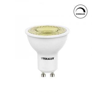 Dimbare Tekalux Juda GU10 LED lamp, 5,5 w warm wit