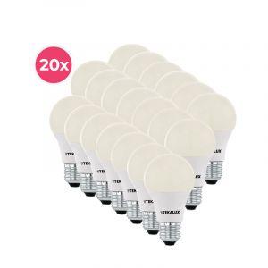 20-pack Tekalux Cenor E27 A60 LED lamp warm wit, 9w