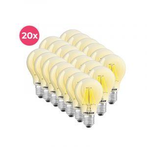 20-pack Dimbare Tekalux Yona E27 A60 LED lamp, 2700k, 5w