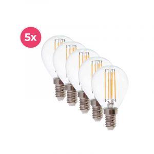 5-pack Dimbare Tekalux Sorna E14 LED lamp, 2700k, 3,5w