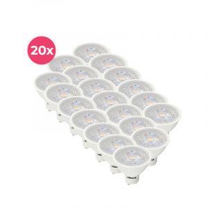 20-packwitte GU10 LED spot Antonie, 5 Watt, 2700K (Warm wit)