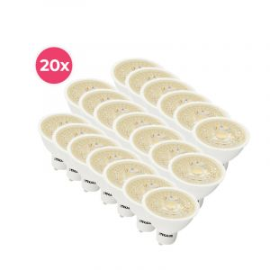 20-pack Dimbare witte GU10 LED lamp Antonie, 5w, warm wit