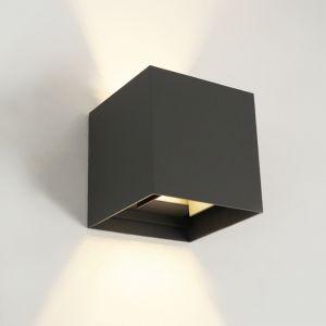 Antraciete moderne buitenlamp, Dion, aluminium, IP54