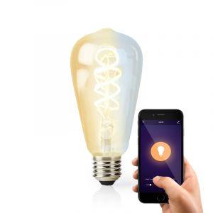 Smart Wifi E27 Edison LED lamp gedraaid, ST64, warm tot koud wit licht