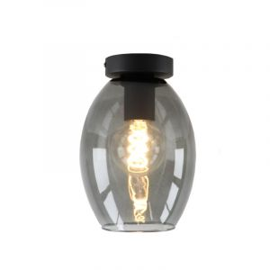 Rookglas design plafondlamp Giada, Ovaal glas