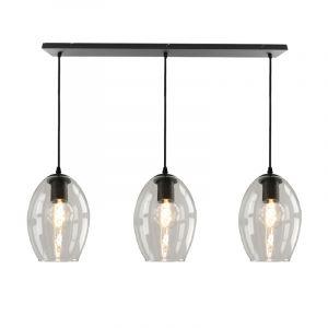 Janou hanglamp met 3 design transparante ovale kappen