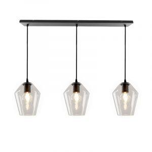 Janou hanglamp met 3 design transparante diamant kappen