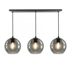 Julot hanglamp 130 cm met 3 design rookglas bollen