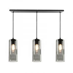 Julot hanglamp 130 cm met 3 design rookglas kokers
