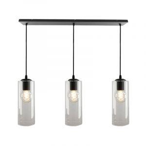 Julot hanglamp 130 cm met 3 design transparante kokers
