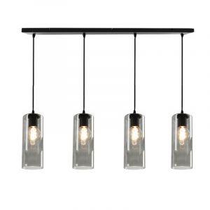 Design hanglamp Manita, 4 Rookglas kokers